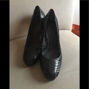 Cole Hana Woven Leather Heels